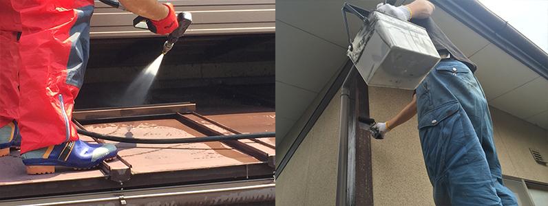 屋根塗装工事と高圧洗浄